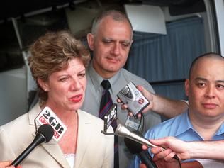Chief Minister Clare Martin, Dr Len Notaras and me (Gary Lum) doing a media interview in October 2002 in the wake of the Bali bombings 2002