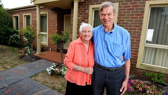 Downsizers Graham and Angela Thomas have bought a new townhouse in Beaumaris.