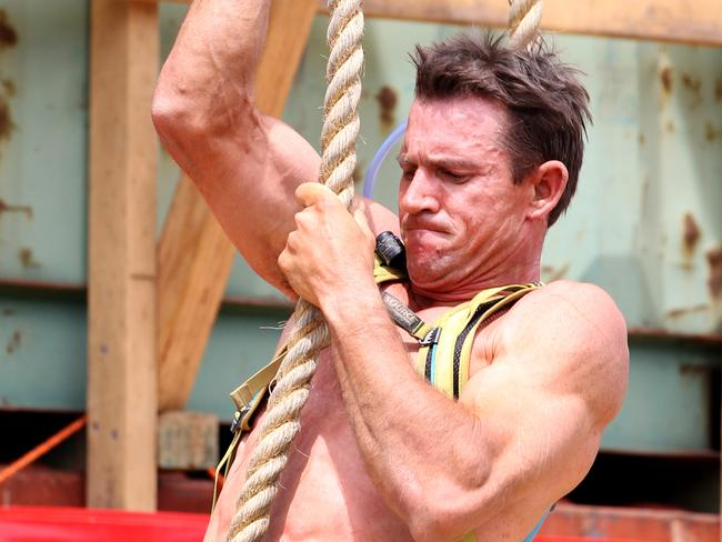 A competitor takes place in the NSW Spartan race.