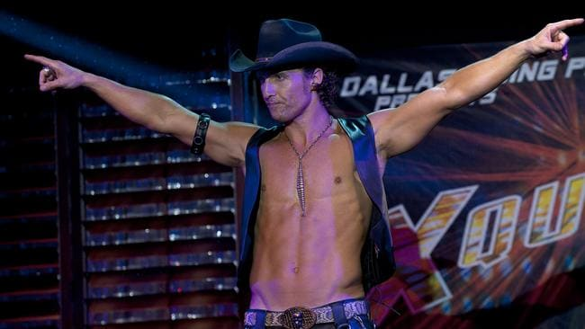 Hogging the limelight... McConaughey in a scene from Magic Mike. Picture: Supplied