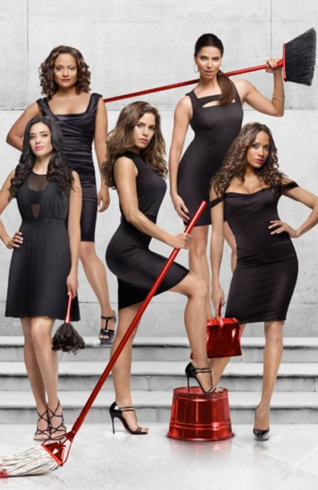 Cleaning up ... The cast of Devious Maids. Picture: Supplied