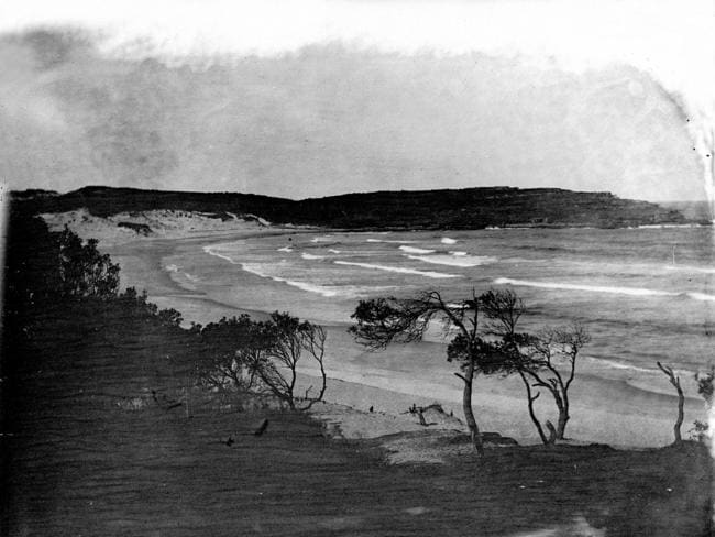 This may be the only photo of Bondi Beach with no people on it. After 1902, swimming at beaches became legal and the place has been chockers every day since. Photo: State Library of NSW