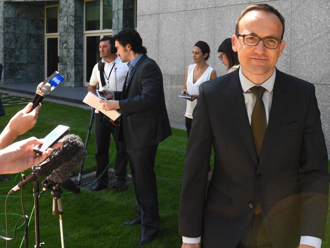 Questioning ... Greens MP Adam Bandt pushed the prime minister on whether he would ensure no asylum-seeker children now in Australia would be deported to Nauru. Picture: AAP Image/Mick Tsikas