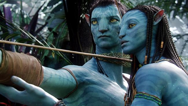 Sam Worthington and Zoe Saldana underwent a computer-generated makeover in the original Avatar, appearing as members of the alien race 'Na'vi'. Picture: AP Photo/20th Century Fox