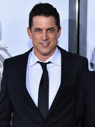"""Writer and Producer Jason Hall (L) arrives at the """"American Sniper"""" Premiere."""