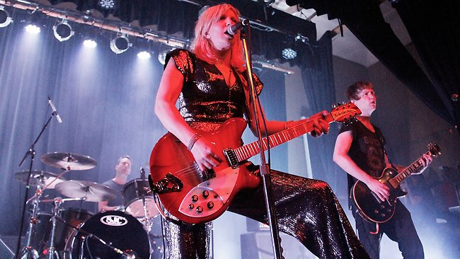 Courtney Love shocked her fans in New York City by not falling apart on stage. Picture: Laura Cavanaugh
