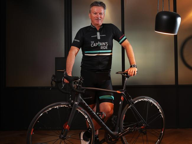 Steve Waugh will lead The Captain's Ride, raising money for the Steve Waugh Foundation which supports families which are impacted by rare diseases. Picture. Phil Hillyard