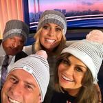 "Tim Gilbert, Karl Stefanovic, Sylvia Jeffreys and Lisa Wilkinson get behind the Mark Hughes Foundation ... ""We've got our beanies on today for the start of the Beanie for Brain Cancer round in the NRL - it's such a good cause and very close to our hearts here at @channel9"" Picture: @thetodayshow/Instagram"