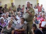 Residents at a community meeting at the Laura Civic Centre. Picture: Naomi Jellicoe