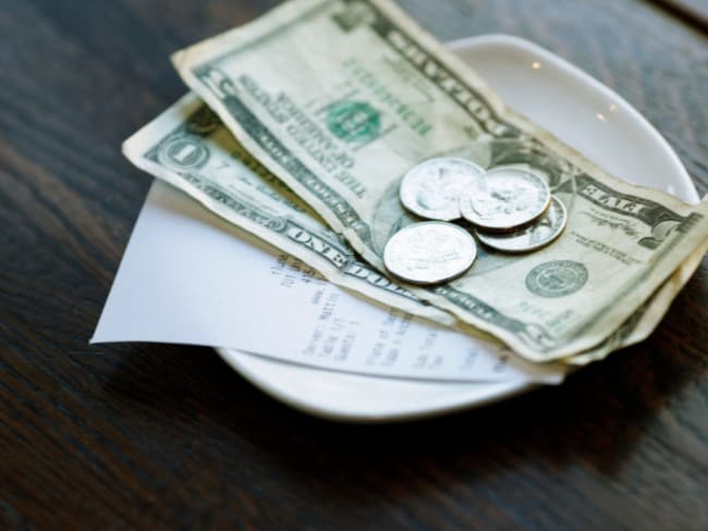 Tipping is the norm in the US where the minimum wage in hospitality is $2 to $3 an hour.