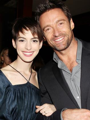 Anne Hathaway and Hugh Jackman. Picture: AP