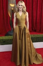 Holly Hunter arrives at the 24th annual Screen Actors Guild Awards at the Shrine Auditorium Expo Hall on Sunday, Jan. 21, 2018, in Los Angeles. Picture: Matt Sayles/Invision/AP