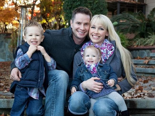Sherri Papini with her husband Keith and their two young children. Picture: Facebook