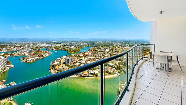The view from the unit at 3346 Chevron Renaissance, which has just been bought as an investment property. Source: Supplied