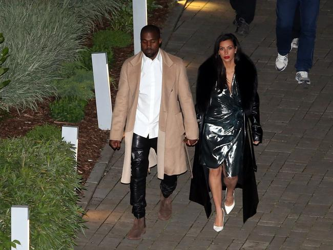 Kim Kardashian and Kanye West enjoying their honeymoon in Prague. Picture: australscope