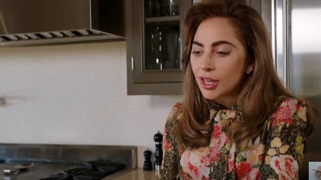 Gaga sits down in her kitchen to chat to a prince.