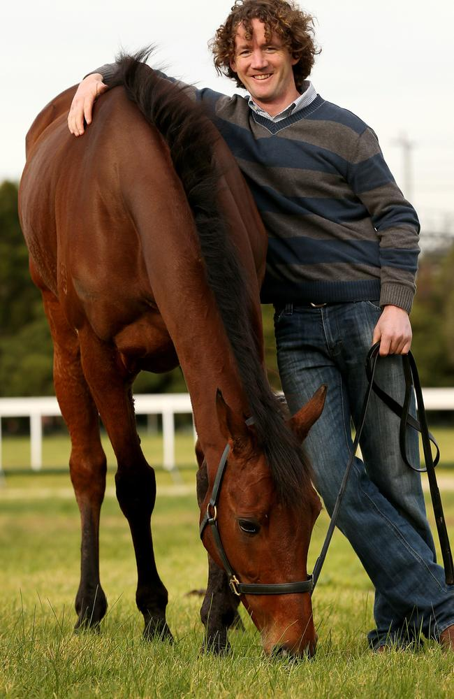 Ciaron Maher with champion jumper Bashboy. Picture: Colleen Petch