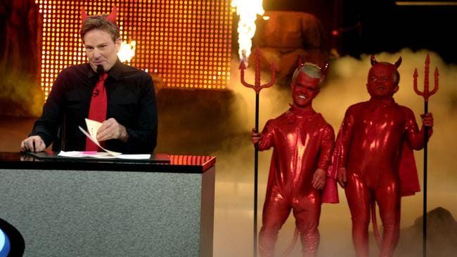 Sam Newman returns to  <i>The Footy Show</i> (dressed as the Devil).
