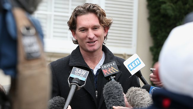 Holiday ... James Hird will serve a 12-month suspension.