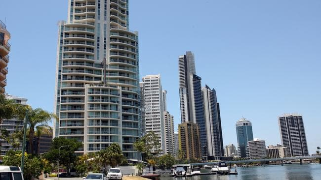 High rise apartment towers on the Gold Coast.