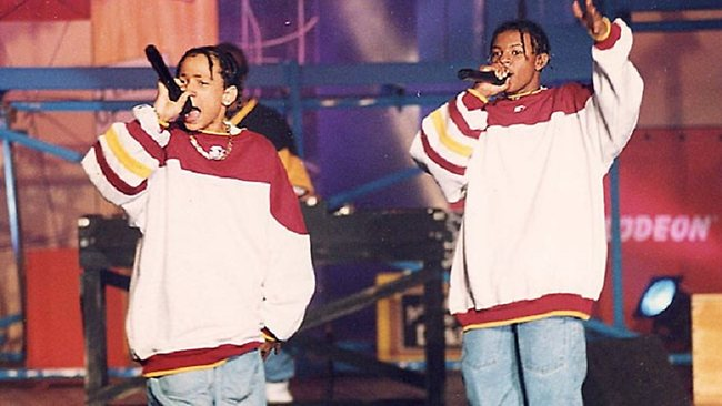 Chris Kelly, right, with fellow Kris Kross member, Chris Smith, has died at 34. Picture: Getty