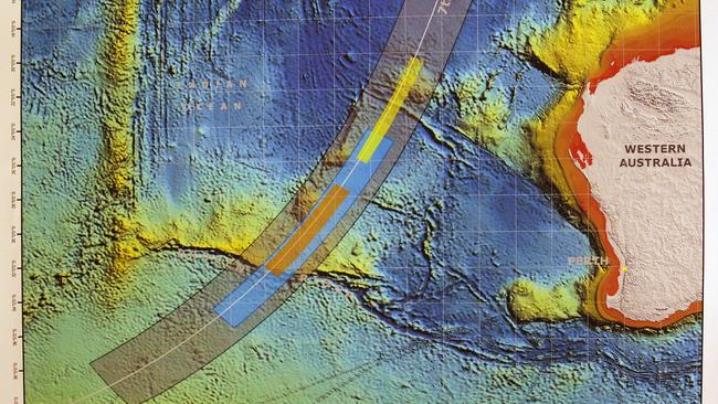 New horizons .. the latest search area which has been narrowed down in the southern Indian Ocean.