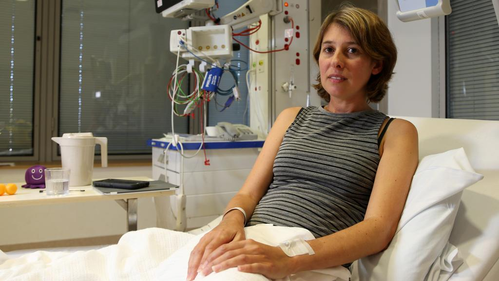 Ayllie White, 39, was stung by an Irukandji jellyfish while snorkelling off Fitzroy Island. Picture: Stewart Mclean