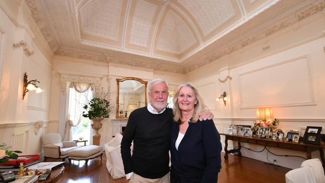 Barry Inman and Virginia Wellington restored the fabulous ballroom, and much of the rest of the period home.