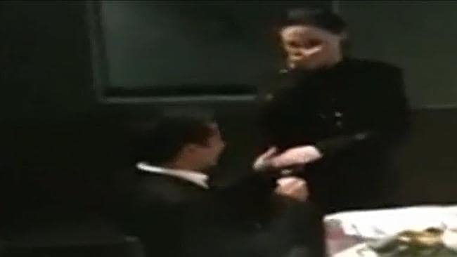 Simon Gittany proposing to Lisa Cecilia Harnum. Picture: Supplied