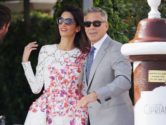 George and Amal Clooney in Venice for their wedding last September. (Photo by Ernesto Ruscio/GC Images)