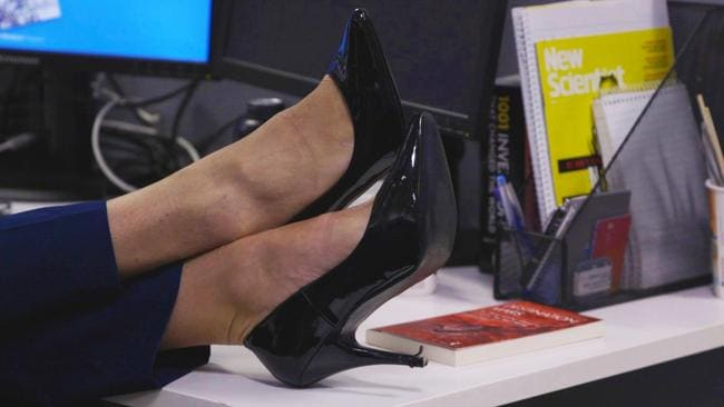 Ashley Maxwell-Lam wears his heels to work most days.