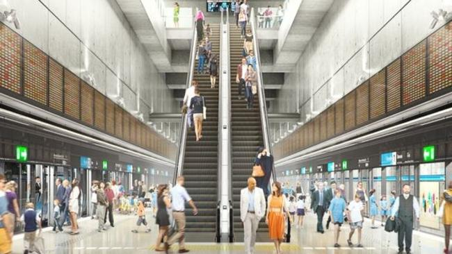 """An artist impression of the Parkville station which will be part of the Metro Tunnel.  <a class=""""capi-image"""" capiid=""""39e393f8e8a6d70f42e06329a387d439""""></a>"""
