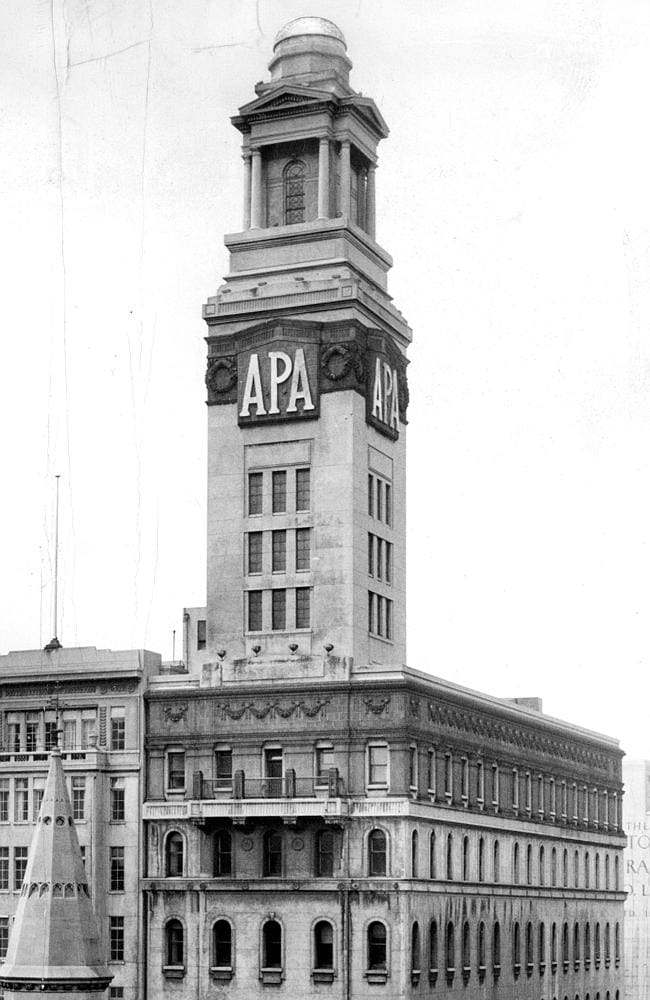 1937: A closer look at the APA Tower. Picture: Herald Sun Image Library/ ARGUS