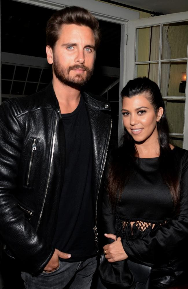 Kourtney Kardashian with her ex Scott Disick in April, 2015. (Photo by Chris Weeks/Getty Images for Calvin Klein)