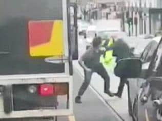 Supplied images of road rage in South yarra, Victoria. MUST CREDIT Nine News