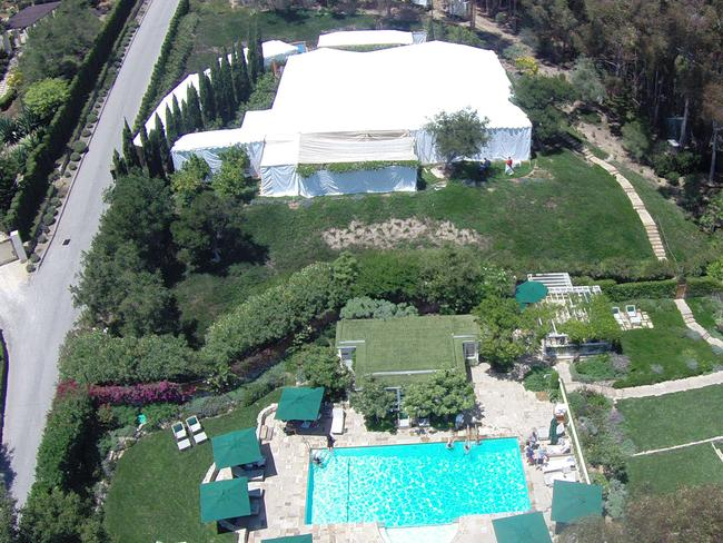 Views of Jessica Simpson's wedding location.