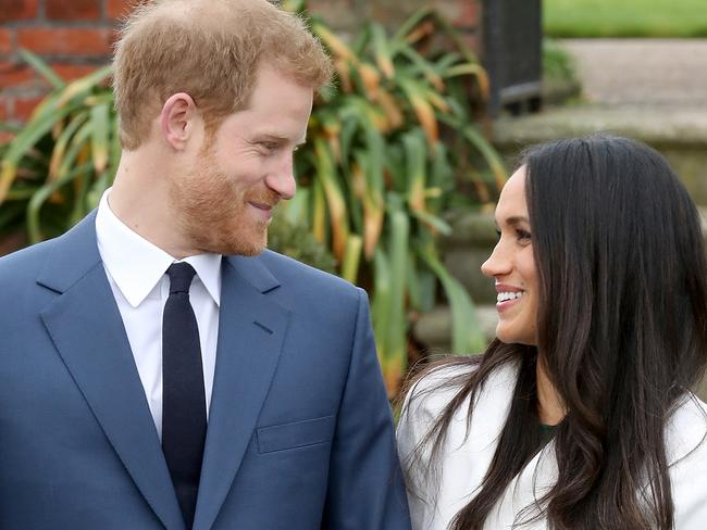 Prince Harry and Meghan Markle, who married her previous husband in 2011. Picture: Getty