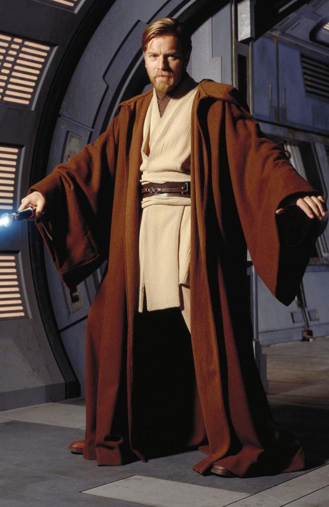 Actor Ewan McGregor as Obi-Wan Kenobi.