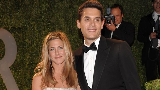 Actress Jennifer Aniston was left high and dry by musician John Mayer via text. (AP Photo/Evan Agostini)