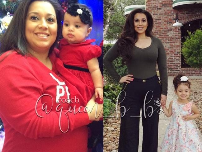 Betsy Ayala with her daughter in 2013 and 2017.