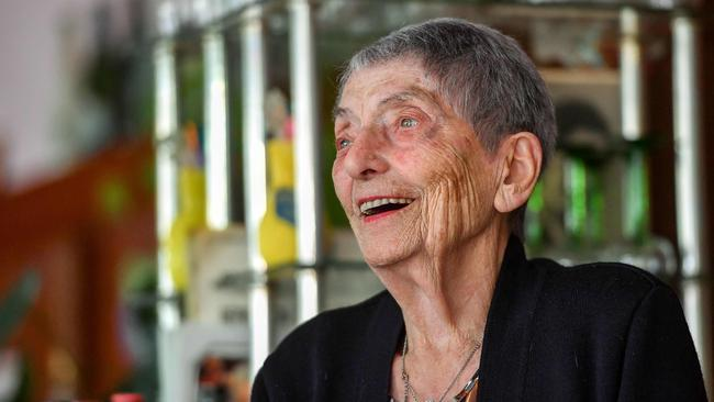 """""""I live like someone who's 60 years old. I go out a lot,"""" says Marie-Lou. Picture: AFP/Philippe Huguen"""