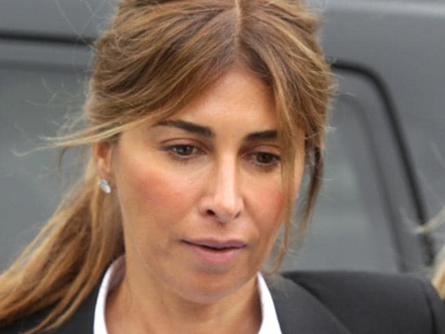 Jodhi Meares entering Waverley Court.