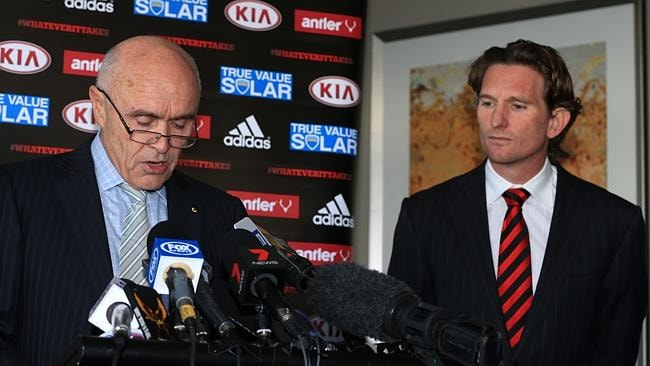 Essendon Press Conference with Paul Little and James Hird.