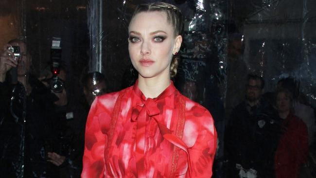 Amanda Seyfried arrives at the Paris Theatre for the While We're Young premiere in NYC.
