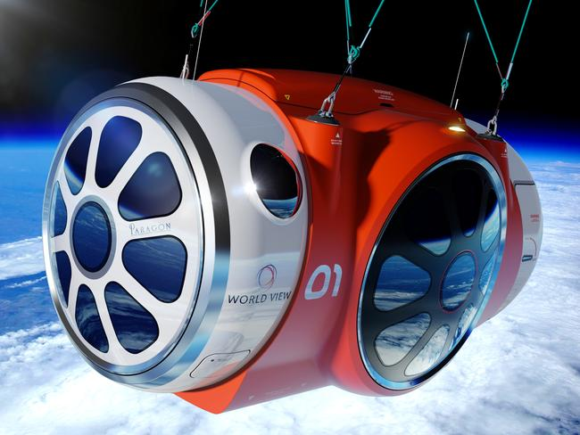 An artist renderingof the pressurised space capsule that will carry passengers.