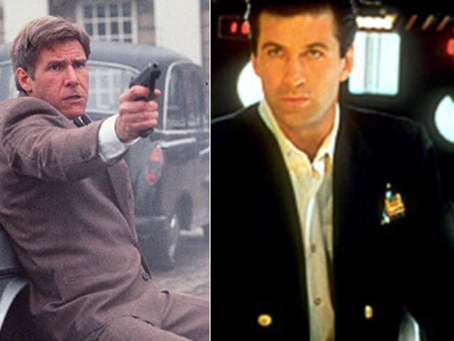 Harrison Ford in Patriot Games (1992) and Alec Baldwin in The Hunt for Red October (1990). Picture: Supplied