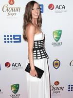 Madeline Hay on the red carpet arriving at the 2014 Allan Border Medal held at Doltone House at Hyde Park.