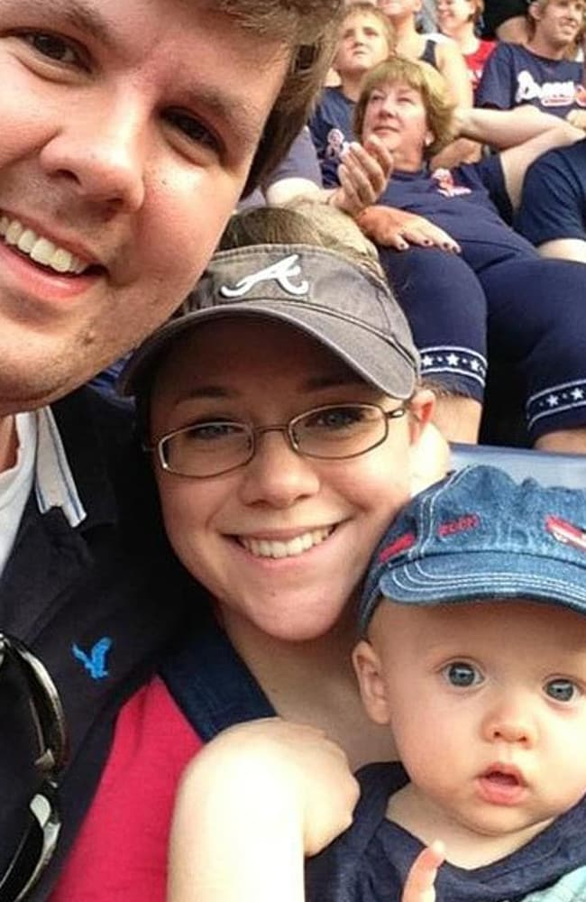 'What I know about this case shocks my conscience as a police officer, a father and a grandfather' ... Ross Harris, wife Leanna and their toddler Cooper.