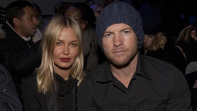 Whirlwind romance ... Bingle and Worthington attend the MBFW 2014 Fall/Winter Alexander Wang fashion show in New York. Picture: Andy Kropa/Invision