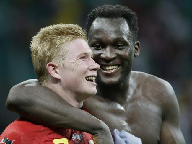 Belgium's Romelu Lukaku (right) was sent on in extra time against the United States and quickly set up Kevin De Bruyne for the go-ahead goal, then scored the second in a 2-1 win. Picture: Felipe Dana